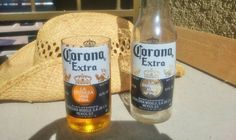 Glasses made from Upcycled Corona Beer by ConversationGlass, $15.00