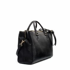 OFFICE CITY BAG from Zara - clean and sturdy faux woven leather with compartments for laptop, iPad, documents, etc.