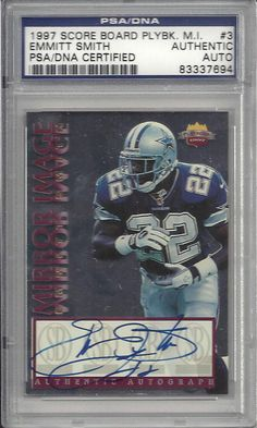EMMITT SMITH COWBOYS SIGNED AUTOGRAPHED 1997 SCORE BOARD CARD PSA DNA 83337695  #emmittsmith #smith #1997 #signedcard #autograph #keepersunlimited #football