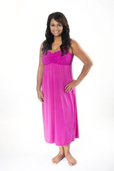 6ef99394e5  fuchsia  nightgown with built-in support.  lingeriethatlifts
