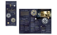 Film Festival Brochure Template Design by StockLayouts