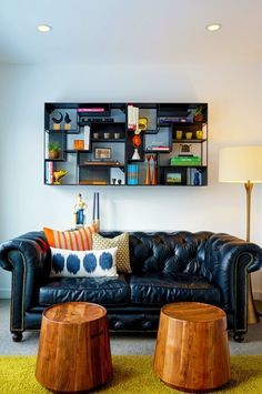Chad and Dave's Modern Dream Home House Tour | Apartment Therapy - love that couch!