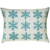 Found it at Wayfair - Snowflake All Over Pattern Block Print Accent Pillow