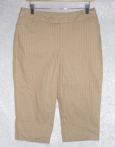 St Johns Bay Womens Capris Secret Stretch Waist Striped Petites size 10P NEW  14.99 free us shipping http://www.ebay.com/itm/253095766101