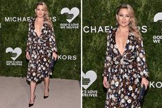 Los mejores looks de los Golden Heart Awards 2016  Kate Hudson deslumbró con un vestido de Michael Kors con escote de vértigo y estampa floral
