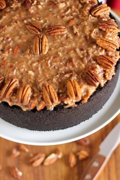 German Chocolate Cheesecake From: Willow Bird Baking, please visit Just Desserts, Delicious Desserts, Dessert Recipes, Yummy Food, Cupcakes, Cupcake Cakes, German Chocolate Cheesecake, Chocolate Cake, Yummy Treats
