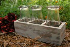 milk bottle vases