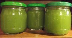 """""""Gdy zobaczyłam przepis na dżem z cukinii na blogu Zjem to , wiedziałam, że będzie to dobry sposób na zagospodarowanie nadwyżek tego warz... Preserves, Pesto, Pickles, Cucumber, Mason Jars, Recipies, Food And Drink, Canning, Drinks"""