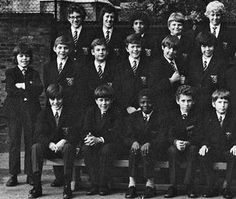 John Galliano (front row, left) at Wilson's Grammar School, south London, 1972