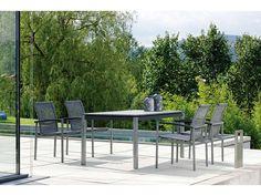 Stern Gartenmöbel Set Lazy Strings Tisch Granit dunkelgrau kaufen im borono Online Shop