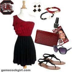 Gamecock Girl Gameday Look - Feeling Ruffled. #Gamecocks #USC #SouthCarolina