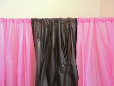 How to make a backdrop for parties with plastic tablecloths.