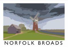 Norfolk Broads Art Print (A3) by Chequered Chicken, http://www.amazon.co.uk/dp/B00I3HZW0K/ref=cm_sw_r_pi_dp_Iyu6sb09XGC5W