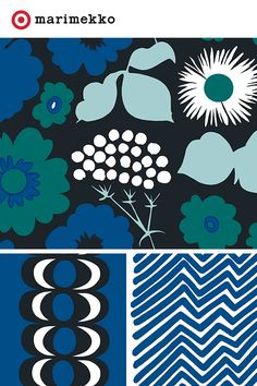 The Marimekko for Target collection features 18 stunning prints and over 200 pieces of designer chic, all available April Each print was created to capture the brilliance of life; from fresh fruit on a trip to Spain to mimicking the way water ripples Textile Patterns, Textile Design, Print Patterns, Floral Patterns, Marimekko Fabric, Retro Fabric, Textile Artists, Surface Pattern Design, Book Design