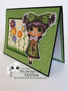 Delfina scrapbook y más...: HALLOWEEN CARD. Reminder My Besties Int.
