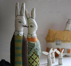 bunny family by Samantha Cotterill - mummysam