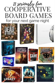Cooperative board games to play with your friends, family, or on date night. These are the best board games for adults to play together!