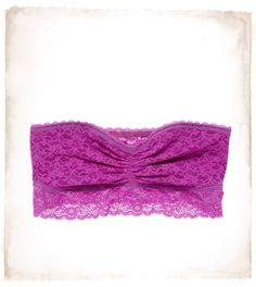 Aerie vintage lace bandeau. Perfect for under low-cut tops and those translucent tanks that we wear in the summer.