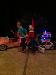 Elf on the Shelf - Officer Elfy, dedicated to my husband!
