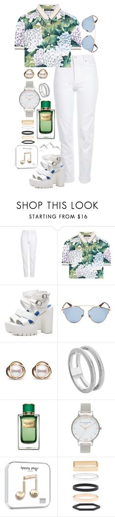 """9th July"" by bubble-tea-dan ❤ liked on Polyvore featuring Topshop, Dolce&Gabbana, Christian Dior, Trilogy, Monica Vinader, Olivia Burton and Accessorize"