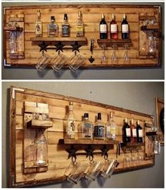 How to make a DIY Pallet Bar? - Diana Phoneix How to make a DIY Pallet Bar? - Is it your friend's birthday or some big event coming up in few days? If yes and you wanted to surprise him then making a DIY pallet bar is a great . Bar Pallet, Pallet Walls, Pallet Wine, Pallet Ideas For Walls, Homemade Bar, Palette Diy, Home Bar Designs, Basement Bar Designs, Cool Basement Ideas