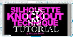 Today's tutorial is brought to you by the words: Popular Demand! That's right I heard you loud and clear - you want a tutorial on the Silhouette 'Knockout' technique. It's actually a pretty easy to d