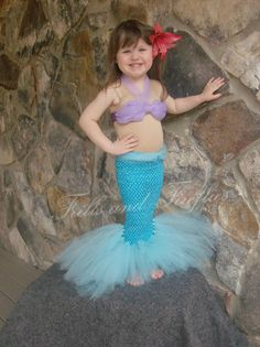 Little Mermaid Tutu Costume Set w/Flower by FrillsandFireflies