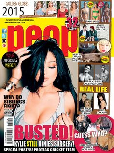 #BustedKylieStillDeniesSurgery #GoldenGlobes2015 #MileyDruggiePicsRevealed #GuessWho People Magazine, Look Alike, New Love, Real Life, Celebs, South Africa, January, Pdf, Journals