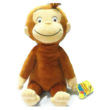 "12 "" CURIOUS GEORGE PLUSH boneca Dora the Explorer botas macaco de pelúcia recheado ANIMALTOYS para os bebés(China (Mainland))"