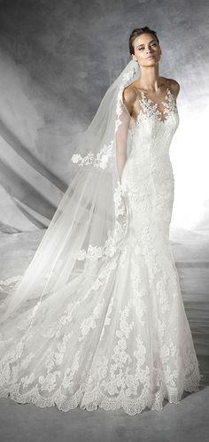 pronovias placia lace wedding dresses 2016 trends