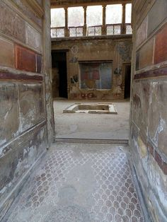 Samnite House - from the entrance into the atrium. One of the oldest houses in the city - Herculaneum