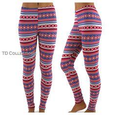 Aztec Print Leggings Womens Leggings Leggings by TDcollections, $15.00 Aztec Print Leggings, Printed Leggings, Color Patterns, Print Patterns, Women's Leggings, Tights, Harem Pants, Pajama Pants, Trending Outfits