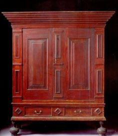 antique william and mary furniture | William and Mary Mahogany-Paneled Gumwood Kas, ... | Antique Furnit ...