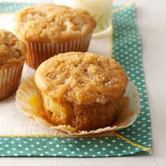 Ginger Pear Muffins Recipe from Taste of Home -- shared by Lorraine Caland of Thunder Bay, Ontario