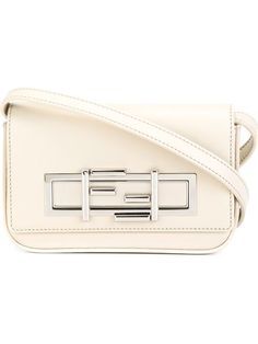 FENDI Mini '3Baguette' Crossbody Bag. #fendi #bags #shoulder bags #leather #crossbody