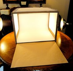 Make your own lightbox... really easy cheap way to make a lightbox for photography. If you use stuff you already have it could be even cheaper (: Must try.