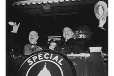 Churchill and President Harry Truman leave for Fulton, Mo., where Churchill would make a famous speech warning of the danger of Soviet expansionism. 'From Stettin in the Baltic to Trieste in the Adriatic,' Churchill warned on March 5, 1946, 'an iron curtain has descended across the continent.'