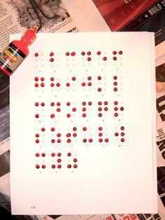 using paint to make a braille chart