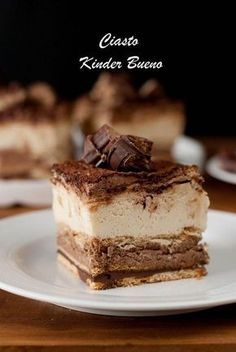 Kinder Bueno cake – Pastry World Polish Desserts, Polish Recipes, Fall Desserts, Sweet Recipes, Cake Recipes, Snack Recipes, Dessert Recipes, Super Torte, Easy Smoothie Recipes