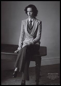 Eva Green in menswear style, looking sharp!