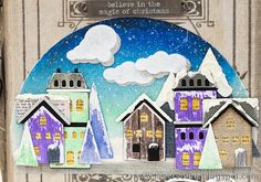 Layers of ink - Winter Village December Journal Video Tutorial by Anna-Karin