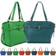 New Womens Korean Style Shoulder Handbag Designer Hobo Faux Leather Bag Purse