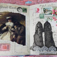 #vintage #gluebook #junkjournal #ephemera #postcards #postagestamps