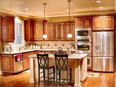 Uplifting Kitchen Remodeling Choosing Your New Kitchen Cabinets Ideas. Delightful Kitchen Remodeling Choosing Your New Kitchen Cabinets Ideas. Light Wood Cabinets, Custom Kitchen Cabinets, Oak Cabinets, Painting Kitchen Cabinets, Kitchen Cabinet Design, Kitchen Paint, Kitchen Redo, New Kitchen, Kitchen Ideas