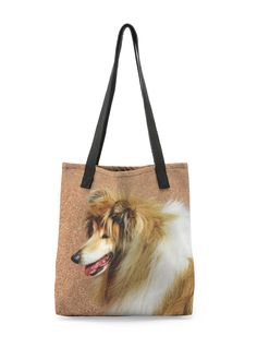Rough Collie Tote Bag: What a beautiful product! As perfect for the office as it is for the grocery store, the VIDA Tote Bag is a beautiful accessory for any outfit or outing.