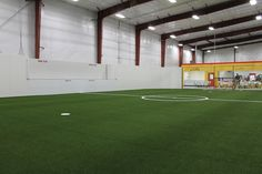 In addition to SportsIowa's 200- by-100-foot field, they also have a 50-by-80-foot turf field. The facility, located at 2176 232nd Lane, opened to the public Wednesday. Photo by Grayson Schmidt/Ames Tribune  http://amestrib.com/news/new-sportsiowa-indoor-facility-opens-wednesday
