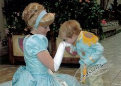 Cinderella & mini Prince Charming. Too cute!!!