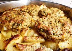 Λεμονάτα μπιφτέκια λαχανικών στο φούρνο συνταγή από τον/την Μαριάννα - Cookpad Weight Watchers Meals, Cauliflower, Vegetarian Recipes, Easy Meals, Sweets, Vegan, Chicken, Baking, Vegetables