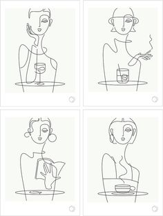 café series : book (blackline) — that girl in black Art Sketches, Art Drawings, Face Line Drawing, Outline Art, Illustration Art, Illustrations, Line Artwork, Minimalist Drawing, Abstract Line Art