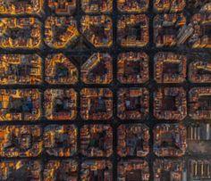 Cells of Barcelona, Spain - stock photo